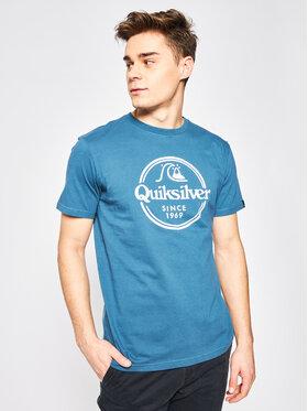 Quiksilver Tričko Words Remain EQYZT05753 Modrá Regular Fit