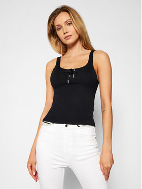 Guess Guess Top Annis Tie W1GR71 Z2U00 Nero Slim Fit