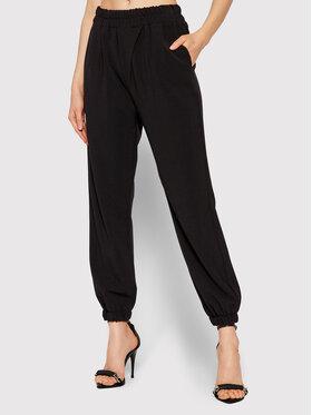 Rinascimento Rinascimento Текстилни панталони CFC0103968003 Черен Regular Fit