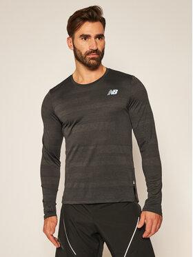 New Balance New Balance Тениска от техническо трико Q Speed Fuel Ls MT03262 Черен Athletic Fit