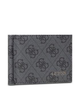 Guess Guess Kreditinių kortelių dėklas Vezzola (4G Logo Basique) Slg SMVEZL LEA23 Pilka