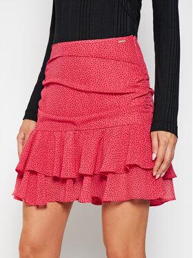 Guess Guess Mini sukňa W1GD0N WBUD2 Ružová Regular Fit