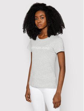 Calvin Klein Jeans Calvin Klein Jeans Marškinėliai Institutional J20J207879 Pilka Regular Fit