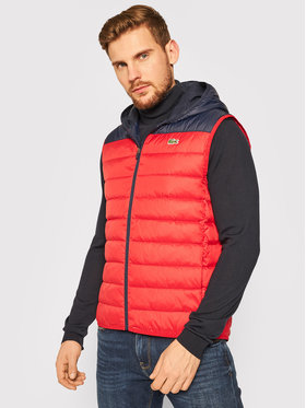 Lacoste Lacoste Gilet BH1552 Rosso Regular Fit