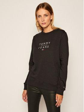 Tommy Jeans Tommy Jeans Μπλούζα Essential Logo DW0DW08554 Μαύρο Regular Fit