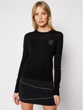 Pinko Pinko Sweter Starter PE 21 BLK01 1G15ZF Y6XB Czarny Regular Fit
