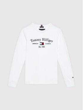 Tommy Hilfiger Tommy Hilfiger Bluză Artwork KB0KB06318 D Alb Regular Fit
