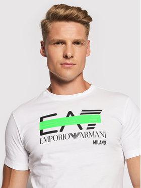 EA7 Emporio Armani EA7 Emporio Armani T-shirt 3KPT32 PJ7CZ 1100 Blanc Regular Fit