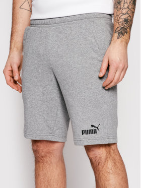 Puma Puma Sportovní kraťasy Essentials 586709 Šedá Regular Fit