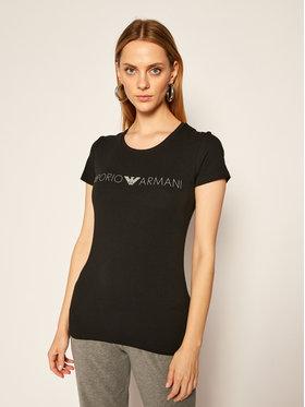 Emporio Armani Underwear Emporio Armani Underwear Marškinėliai 163139 0A317 00020 Juoda Slim Fit