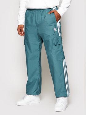 adidas adidas Sportinės kelnės adicolor Classics 3-Stripes GN3450 Žalia Regular Fit