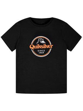 Quiksilver Quiksilver Тишърт Words Remain EQBZT04142 Черен Regular Fit
