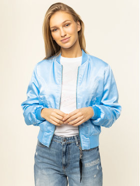 Guess Guess Bomber striukė W01L20 WCK60 Mėlyna Regular Fit