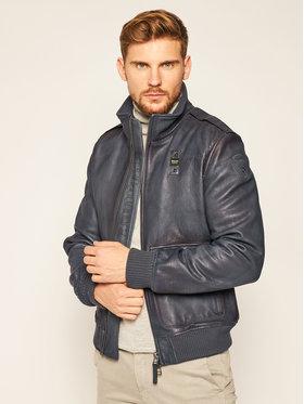 Blauer Blauer Kožená bunda Spalla 20WBLUL01297 005830 Čierna Regular Fit