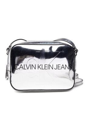 Calvin Klein Jeans Calvin Klein Jeans Torebka Sculpted Camera Bag Silver Body K60K608377 Srebrny