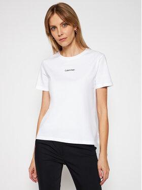 Calvin Klein Calvin Klein Тишърт Mini Ree K20K202912 Бял Regular Fit