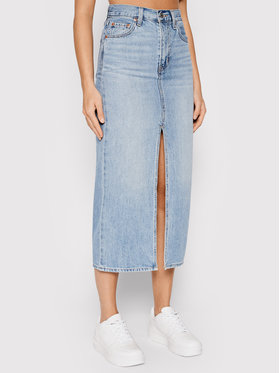 Levi's® Levi's® Džinsinis sijonas Slit Front Denim 39450-0005 Mėlyna Regular Fit