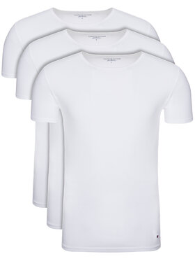 Tommy Hilfiger Tommy Hilfiger 3 marškinėlių komplektas Essential 2S87905187 Balta Regular Fit