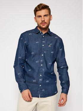 Tommy Jeans Tommy Jeans Chemise Tjm Critter Print DM0DM08770 Bleu Comfort Fit