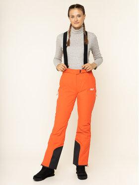 Jack Wolfskin Jack Wolfskin Lyžařské kalhoty Bridgeport 1111841-3032 Oranžová Regular Fit