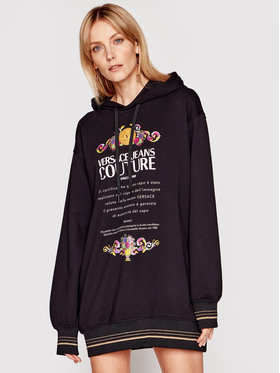 Versace Jeans Couture Versace Jeans Couture Robe en tricot B6HWA7TL Noir Regular Fit