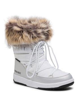 Moon Boot Moon Boot Μπότες Χιονιού Mb Jr Girl Monaco Low Wp 34052400001 D Λευκό