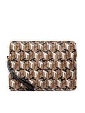 Tommy Hilfiger Tommy Hilfiger Housse pour tablette Iconic Tommy Tablet Case Mono AW0AW10549 Marron