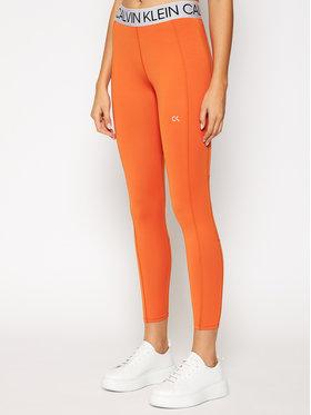 Calvin Klein Performance Calvin Klein Performance Legginsy 00GWF0L642 Pomarańczowy Slim Fit