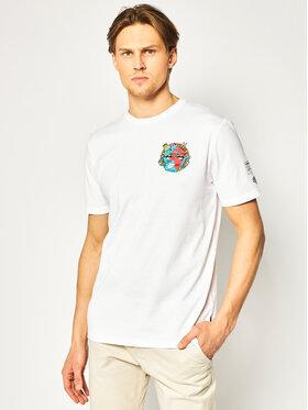 Volcom Volcom T-shirt Freaks City A5212056 Bianco Modern Fit