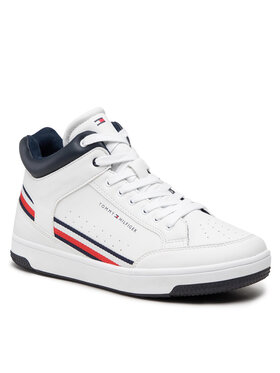 Tommy Hilfiger Tommy Hilfiger Sneakersy High Top Lace-Up T3B4-32051-0621 S Biały
