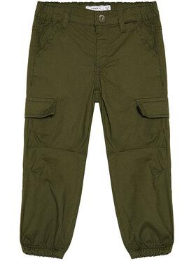 NAME IT NAME IT Spodnie materiałowe Mbob 13185534 Zielony Regular Fit