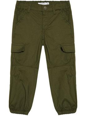 NAME IT NAME IT Текстилни панталони Mbob 13185534 Зелен Regular Fit