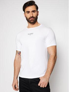 KARL LAGERFELD KARL LAGERFELD T-shirt Crewneck 755034 511221 Blanc Regular Fit