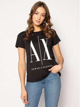 Armani Exchange Armani Exchange T-Shirt 8NYTCX YJG3Z 1200 Černá Regular Fit