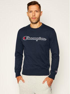 Champion Champion Bluza Script Logo 214188 Granatowy Comfort Fit