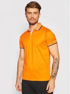 KARL LAGERFELD KARL LAGERFELD Тениска с яка и копчета 745002 511200 Оранжев Regular Fit