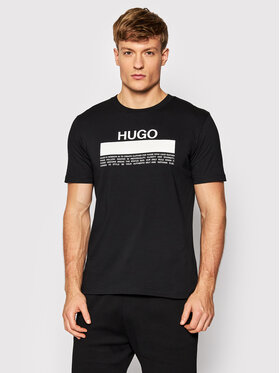 Hugo Hugo Тишърт Daitai 50457125 Черен Regular Fit
