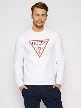 Guess Guess Pantaloni trening M0BQ37 K7ON1 Alb Slim Fit