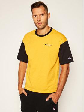 Champion Champion T-Shirt Manica Logo 214285 Żółty Regular Fit