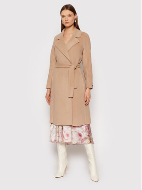 Peserico Peserico Wollmantel S20080E00A Beige Regular Fit