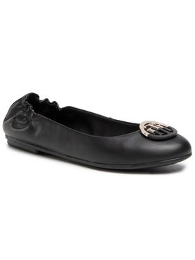 Tommy Hilfiger Tommy Hilfiger Ballerine Th Basic Leather Ballerina FW0FW05727 Nero