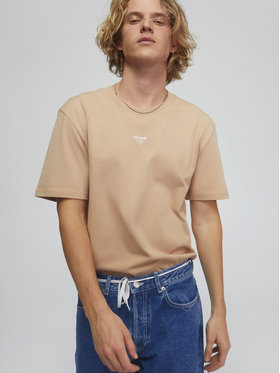 Sprandi Sprandi T-Shirt SS21-TSM006 Μπεζ Regular Fit