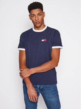 Tommy Jeans Tommy Jeans T-Shirt Badge Ringer DM0DM10280 Tmavomodrá Regular Fit