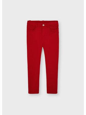 Mayoral Mayoral Spodnie materiałowe 511 Czerwony Slim Fit