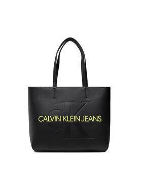 Calvin Klein Jeans Calvin Klein Jeans Дамска чанта Sculpted Shopper 29 Mono K60K608374 Черен