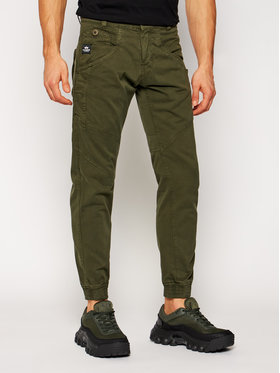 Alpha Industries Alpha Industries Joggery Major 128201 Zielony Slim Fit