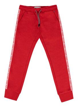 Tommy Hilfiger Tommy Hilfiger Spodnie dresowe KG0KG04535 D Czerwony Regular Fit