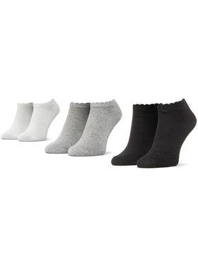 Mayoral Mayoral Σετ κοντές κάλτσες παιδικές 3 τεμαχίων 10877 Μαύρο