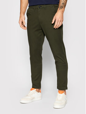 Selected Homme Selected Homme Chinosy Miles 16074054 Zielony Slim Fit