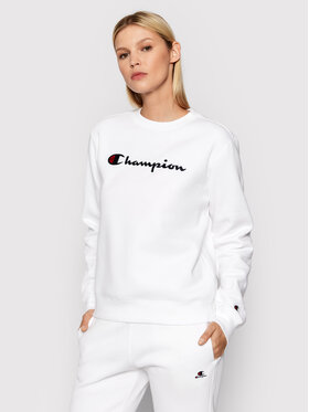 Champion Champion Majica dugih rukava Crewneck 114462 Bijela Regular Fit